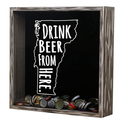 Torched Products Shadow Box Vermont Drink Beer From Here Beer Cap Shadow Box