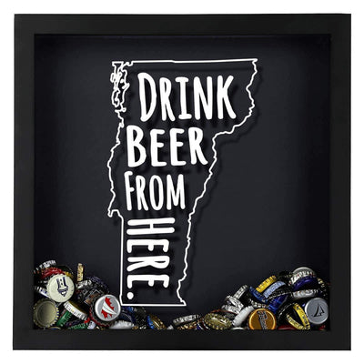 Torched Products Shadow Box Vermont Drink Beer From Here Beer Cap Shadow Box (781185581173)
