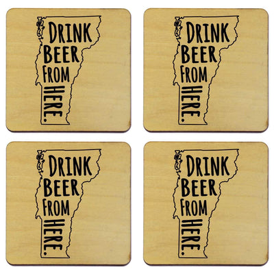 Torched Products Coasters Vermont Drink Beer From Here Coasters (781458931829)