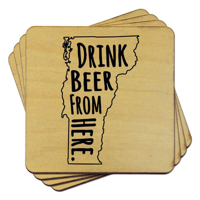 Torched Products Coasters Vermont Drink Beer From Here Coasters