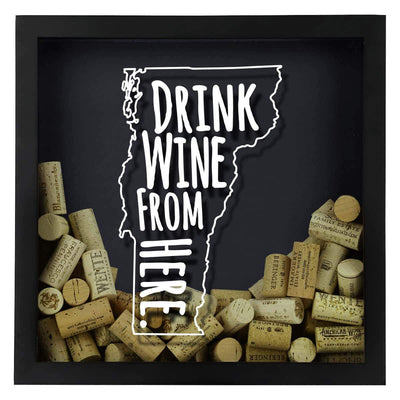 Torched Products Shadow Box Vermont Drink Wine From Here Wine Cork Shadow Box
