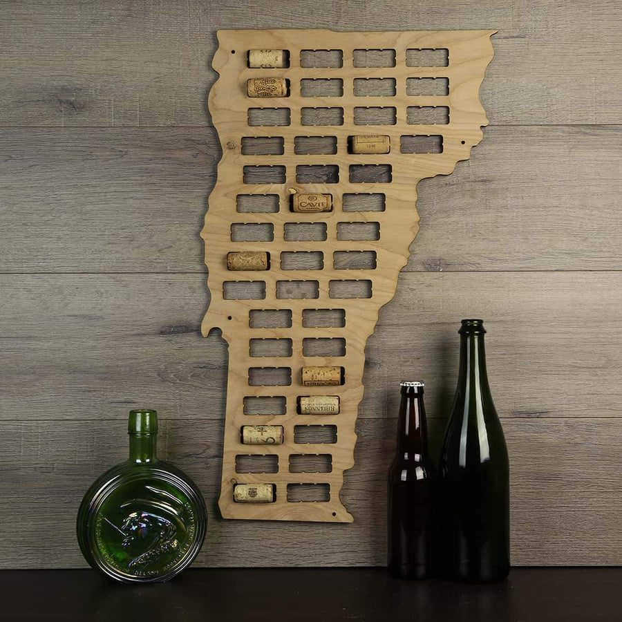 Torched Products Wine Cork Map Vermont Wine Cork Map (778992124021)