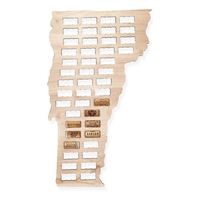 Torched Products Wine Cork Map Vermont Wine Cork Map