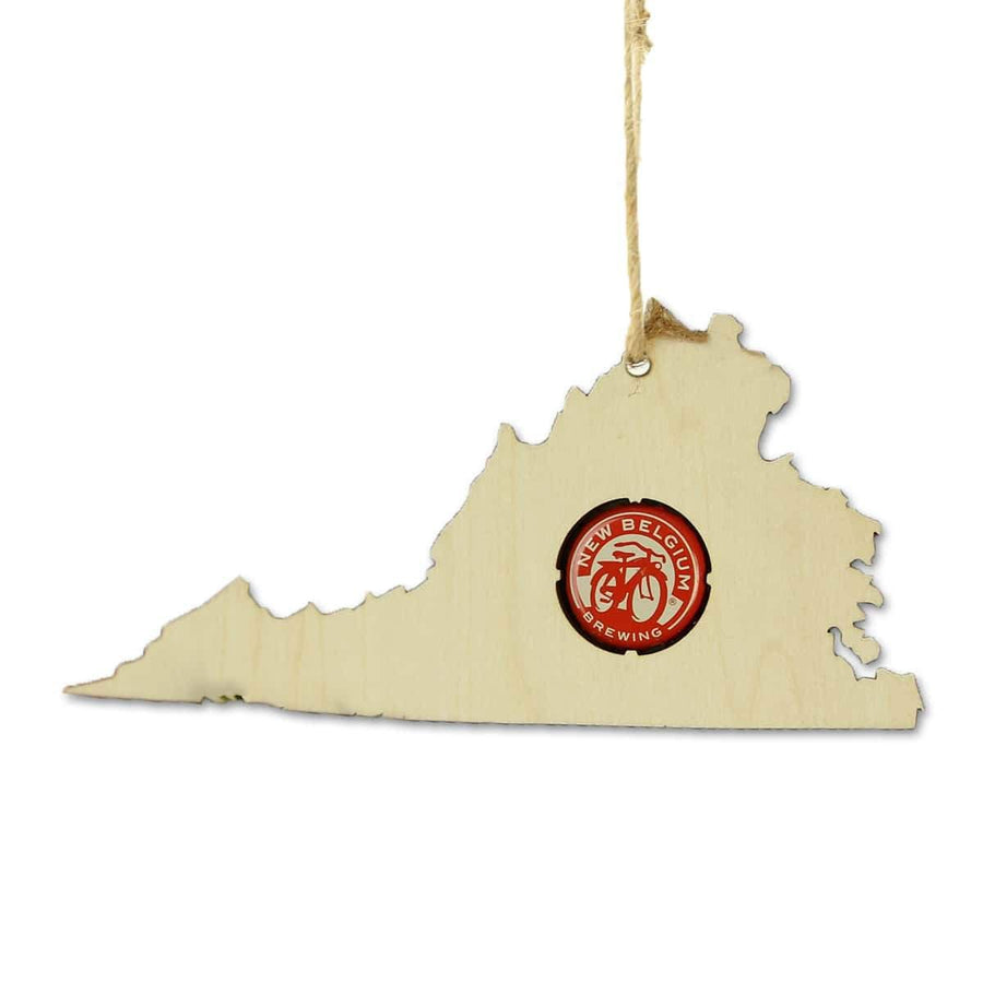 Torched Products Beer Cap Maps Virginia Beer Cap Map Ornaments