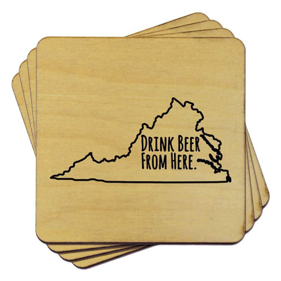 Torched Products Coasters Virginia Drink Beer From Here Coasters