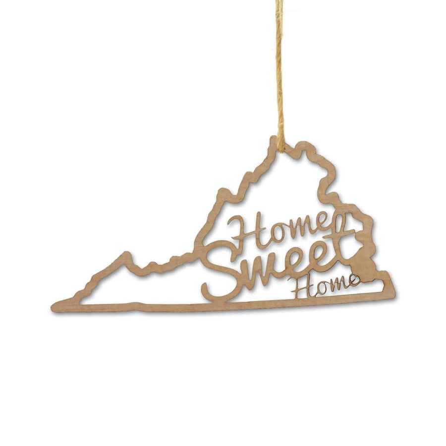 Torched Products Ornaments Virginia Home Sweet Home Ornaments