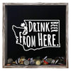Torched Products Shadow Box Gray Washington Drink Beer From Here Beer Cap Shadow Box