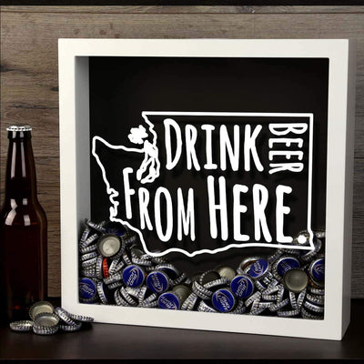 Torched Products Shadow Box Washington Drink Beer From Here Beer Cap Shadow Box