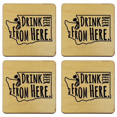 Torched Products Coasters Washington Drink Beer From Here Coasters (781460111477)