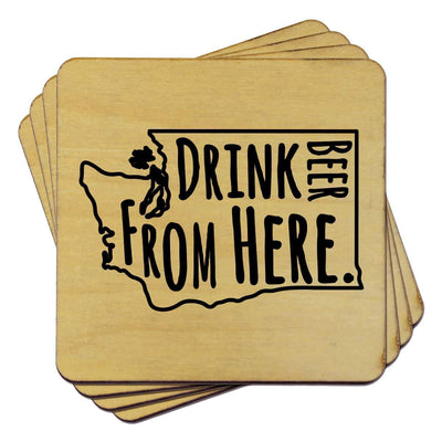 Torched Products Coasters Washington Drink Beer From Here Coasters