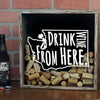 Torched Products Shadow Box Washington Drink Wine From Here Wine Cork Shadow Box (795794931829)