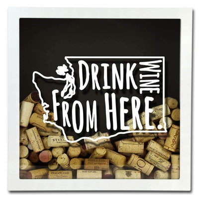 Torched Products Shadow Box Washington Drink Wine From Here Wine Cork Shadow Box