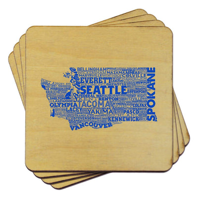 Torched Products Coasters Washington Typography Coaster (787847610485)