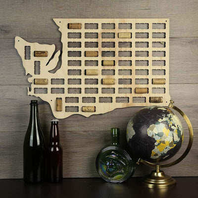 Torched Products Wine Cork Map Washington Wine Cork Map