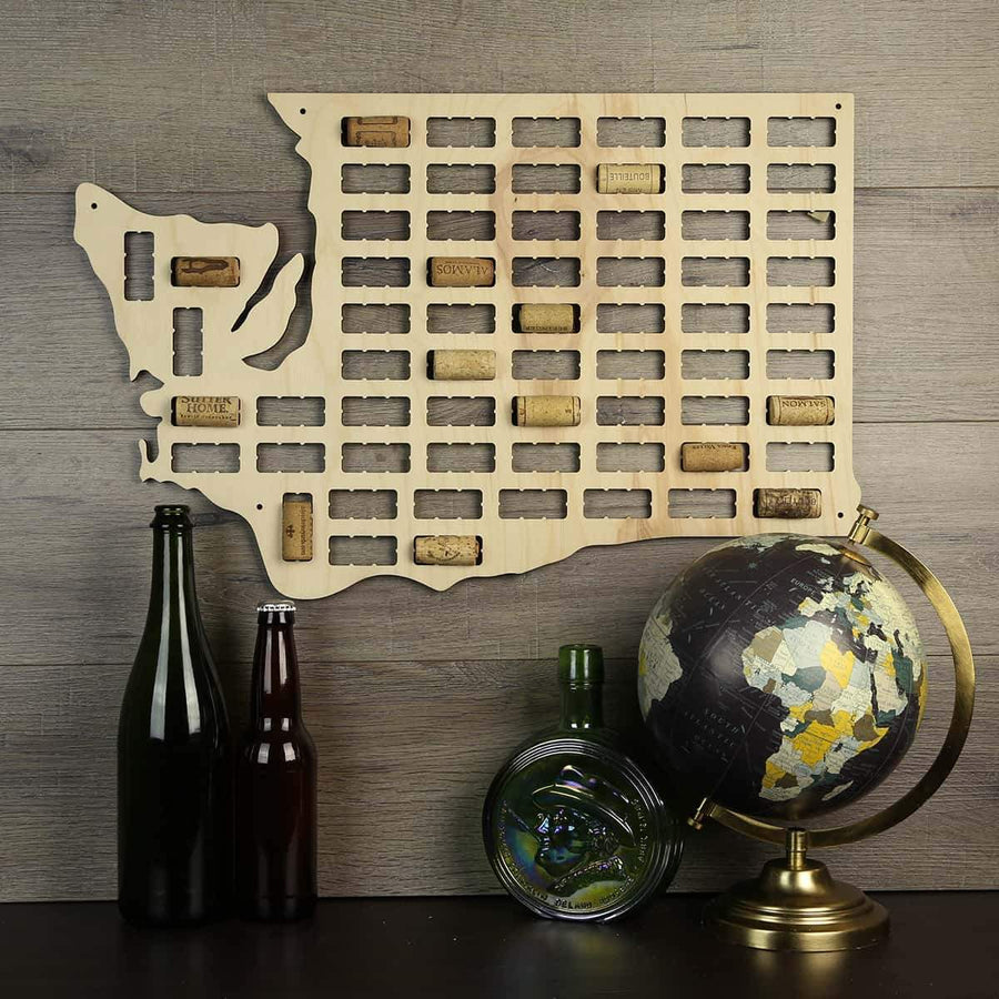 Torched Products Wine Cork Map Washington Wine Cork Map (778993500277)