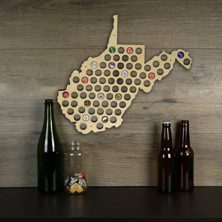 Torched Products Beer Cap Map West Virginia Beer Cap Map (777582870645)