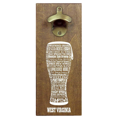 Torched Products Bottle Opener Default Title West Virginia Craft Beer Typography Cap Catching Magnetic Bottle Opener