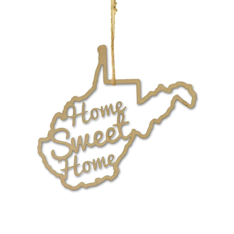 Torched Products Ornaments West Virginia Home Sweet Home Ornaments