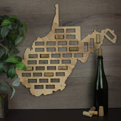 Torched Products Wine Cork Map West Virginia Wine Cork Map (778994057333)