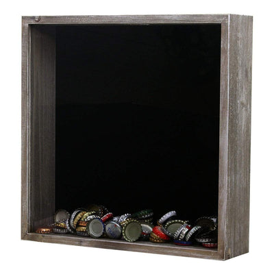 Torched Products Shadow Box Gray Wholesale Top Loading Shadow Box – Beer and Cork Collector (778782474357)