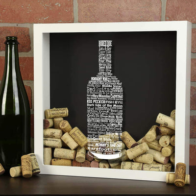 Torched Products Shadow Box Wine Typography Wine Cork Shadow Box