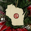 Torched Products Ornaments Wisconsin Beer Cap Map Ornaments