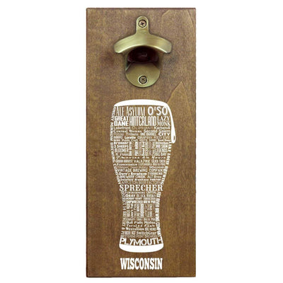 Torched Products Bottle Opener Default Title Wisconsin Craft Beer Typography Cap Catching Magnetic Bottle Opener