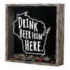 Torched Products Shadow Box Wisconsin Drink Beer From Here Beer Cap Shadow Box (781186007157)