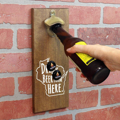 Torched Products Bottle Opener Default Title Wisconsin Drink Beer From Here Cap Catching Magnetic Bottle Opener (781502709877)