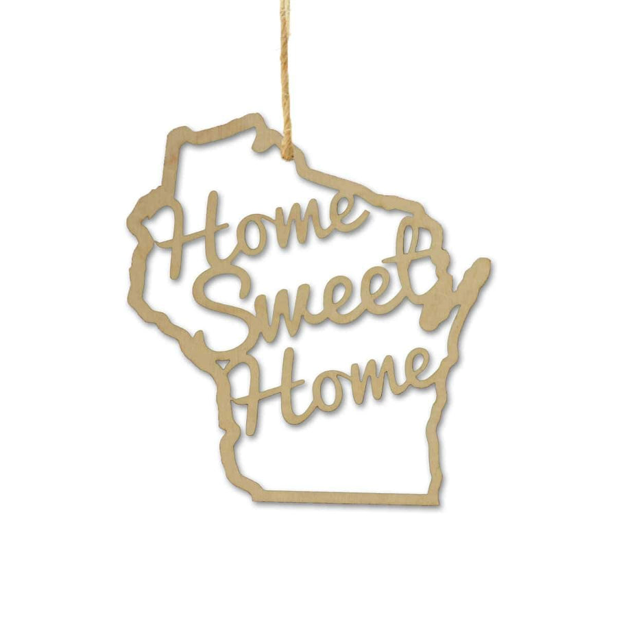 Torched Products Ornaments Wisconsin Home Sweet Home Ornaments
