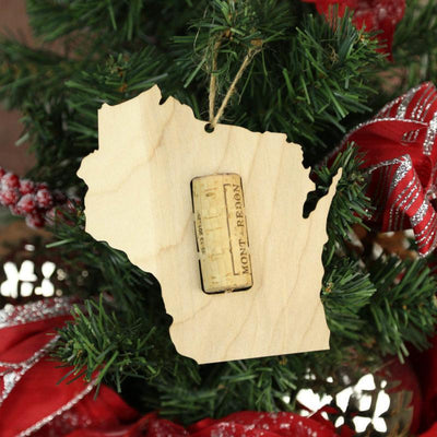Torched Products Wine Cork Holder Wisconsin Wine Cork Holder Ornaments (781207502965)