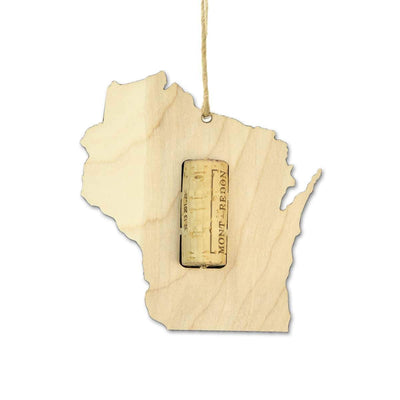 Wisconsin Wine Cork Holder Ornaments OR-WCT-WI