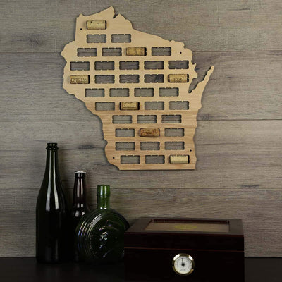 Torched Products Wine Cork Map Wisconsin Wine Cork Map