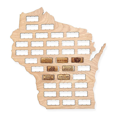 Torched Products Wine Cork Map Wisconsin Wine Cork Map (778994417781)