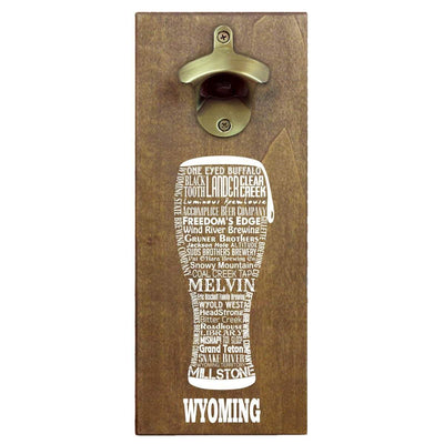 Torched Products Bottle Opener Default Title Wyoming Craft Beer Typography Cap Catching Magnetic Bottle Opener