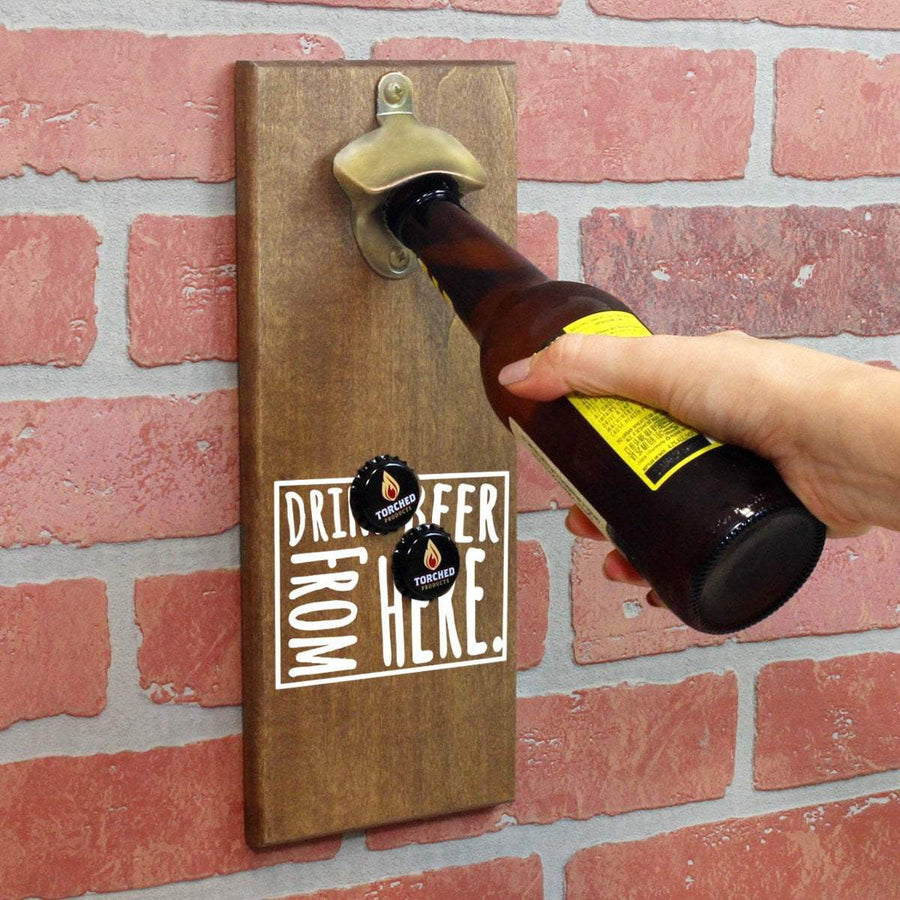 Torched Products Bottle Opener Default Title Wyoming Drink Beer From Here Cap Catching Magnetic Bottle Opener (781503529077)
