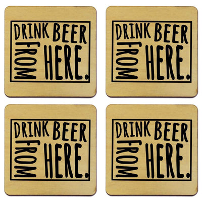 Torched Products Coasters Wyoming Drink Beer From Here Coasters