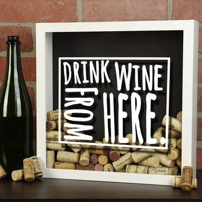 Torched Products Shadow Box Wyoming Drink Wine From Here Wine Cork Shadow Box