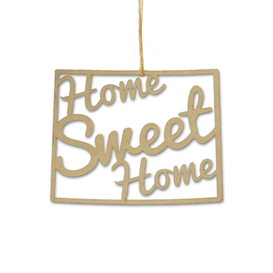Torched Products Ornaments Wyoming Home Sweet Home Ornaments