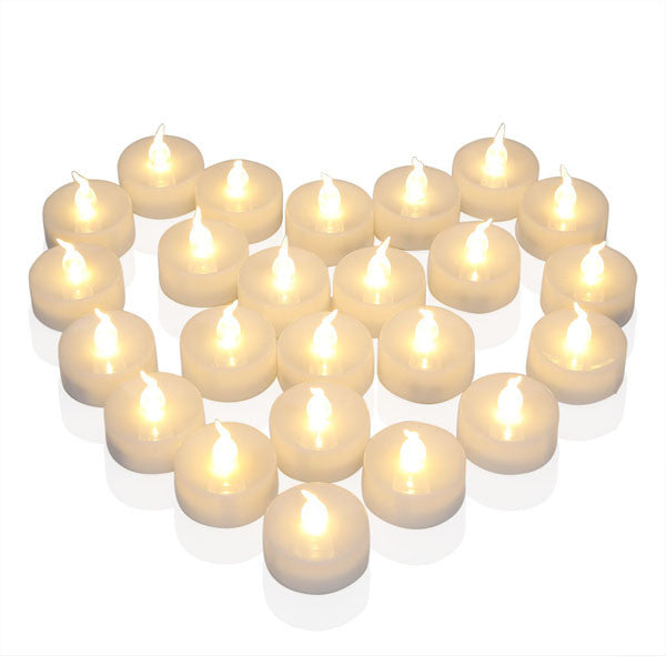 12pcs/lot High Quality Led Candle Electronic Flameless Tealights Warm White Candele For Household Decoration Party Bougies Velas