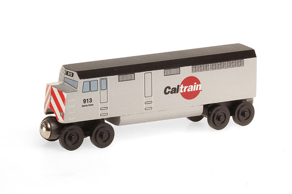 Whittle Shortline Railroad Cal Train F-40 Diesel Engine Wooden Toy Train