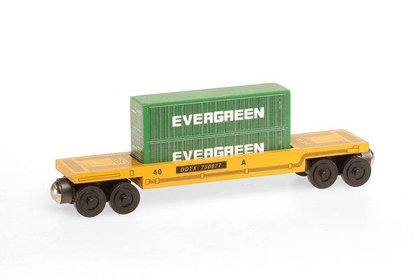 Whittle Shortline Railroad Evergreen Doublestack Car Wooden Toy Train