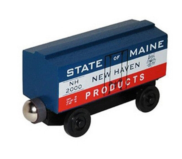 Whittle Shortline Railroad State of Maine Boxcar Wooden Toy Train