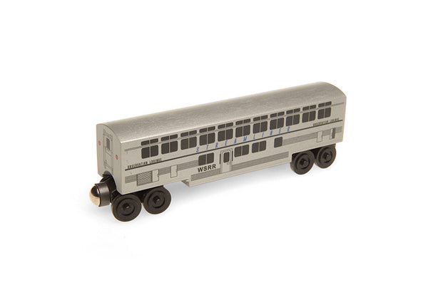 Whittle Shortline Railroad Streamliner Observation Coach Wooden Toy Train
