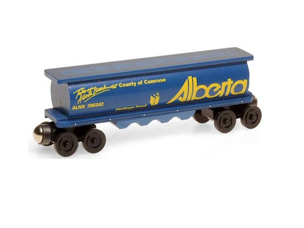 Whittle Shortline Railroad Alberta Cylinder Hopper Wooden Toy Train