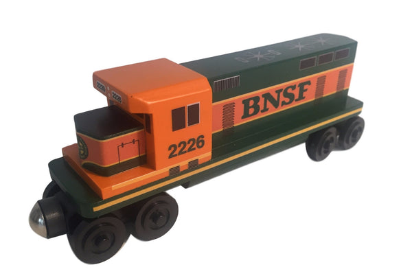 Whittle Shortline Railroad BNSF GP-38 Diesel Engine Wooden Toy Train