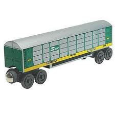 Whittle Shortline Railroad Burlington Northern Autorack Wooden Toy Train