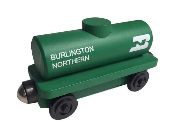 Whittle Shortline Railroad Burlington Northern Tanker Wooden Toy Train