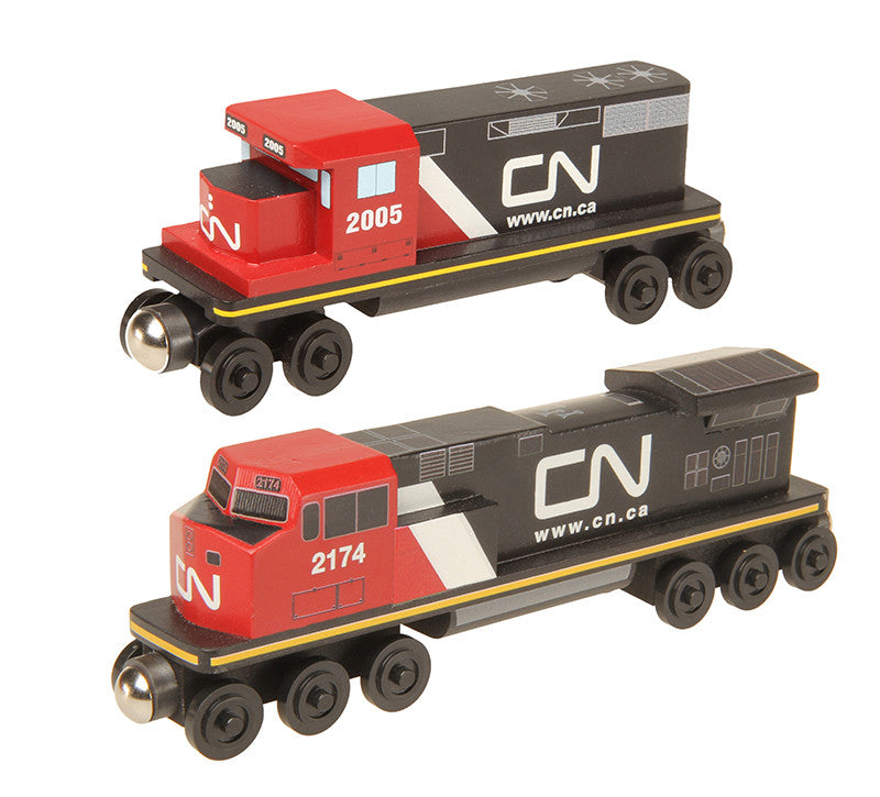 Whittle Shortline Railroad Canadian National GP-38 and C-44 Diesel Engine Comparison Picture
