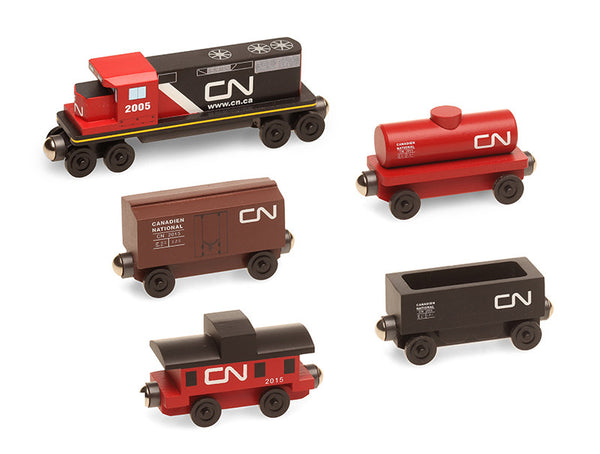 Canadian National 5pc. GP-38 Diesel Engine Wooden Toy Train